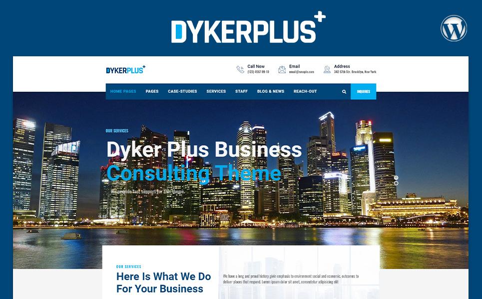 """Dyker Plus Multipurpose Business  Consulting"" 响应式WordPress模板 #105352"