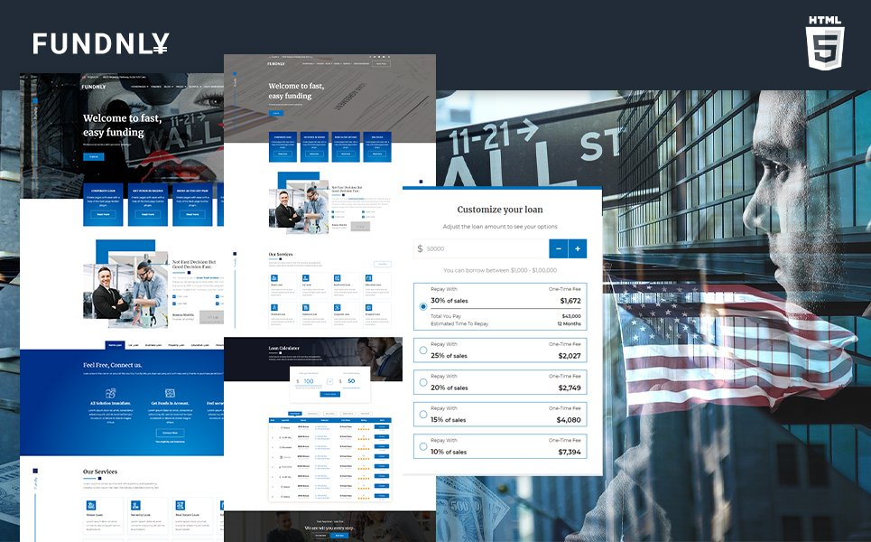 Fundly | Loan Company & Financial Counselor Website Template