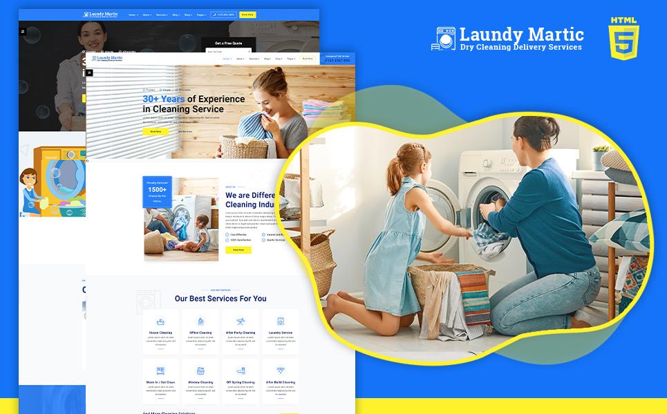 """laundrymatic | Laundry & Dry clean HTML5"" 响应式网页模板 #105347"