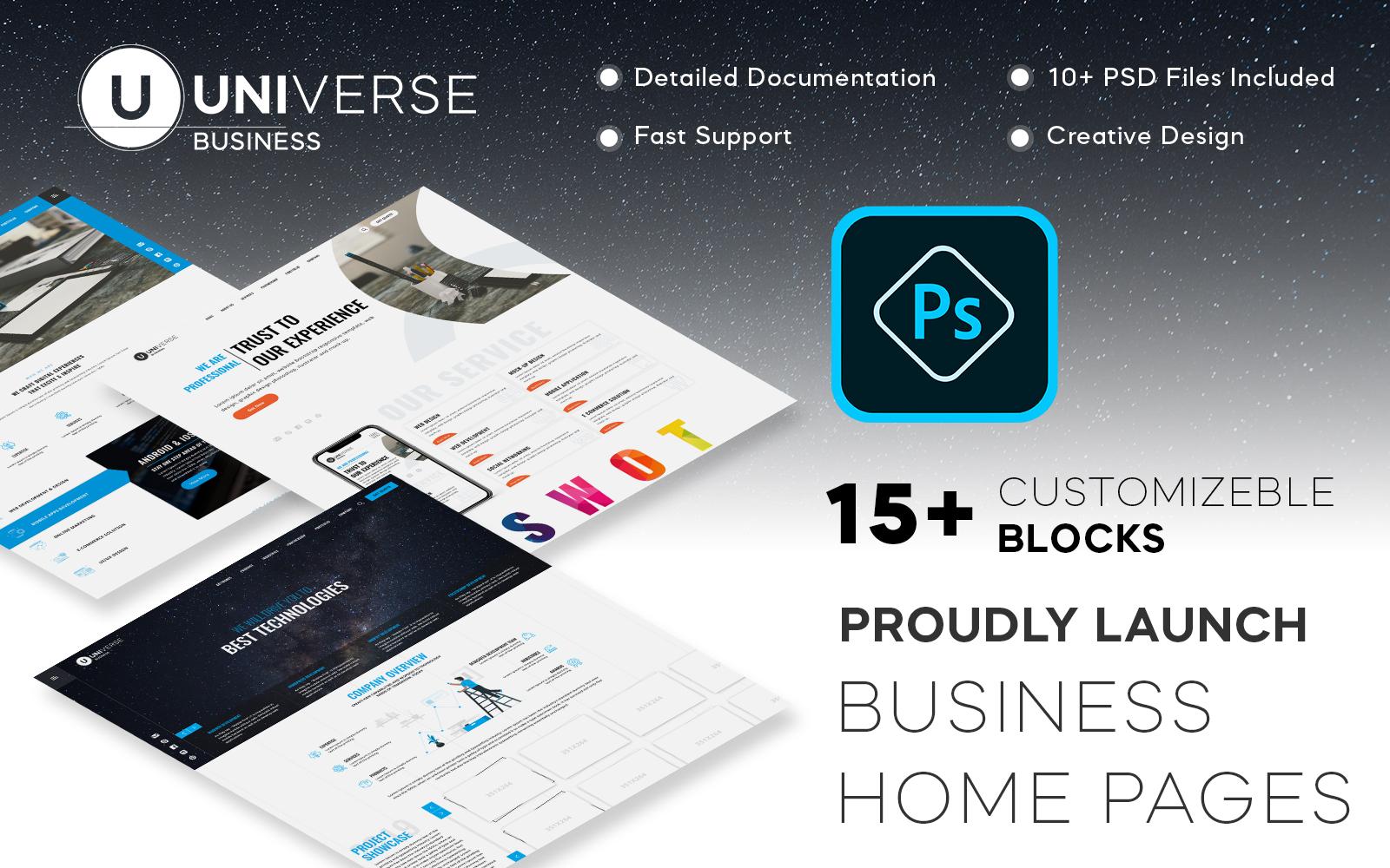"PSD Vorlage namens ""Universe | Multi-Purpose"" #105353"