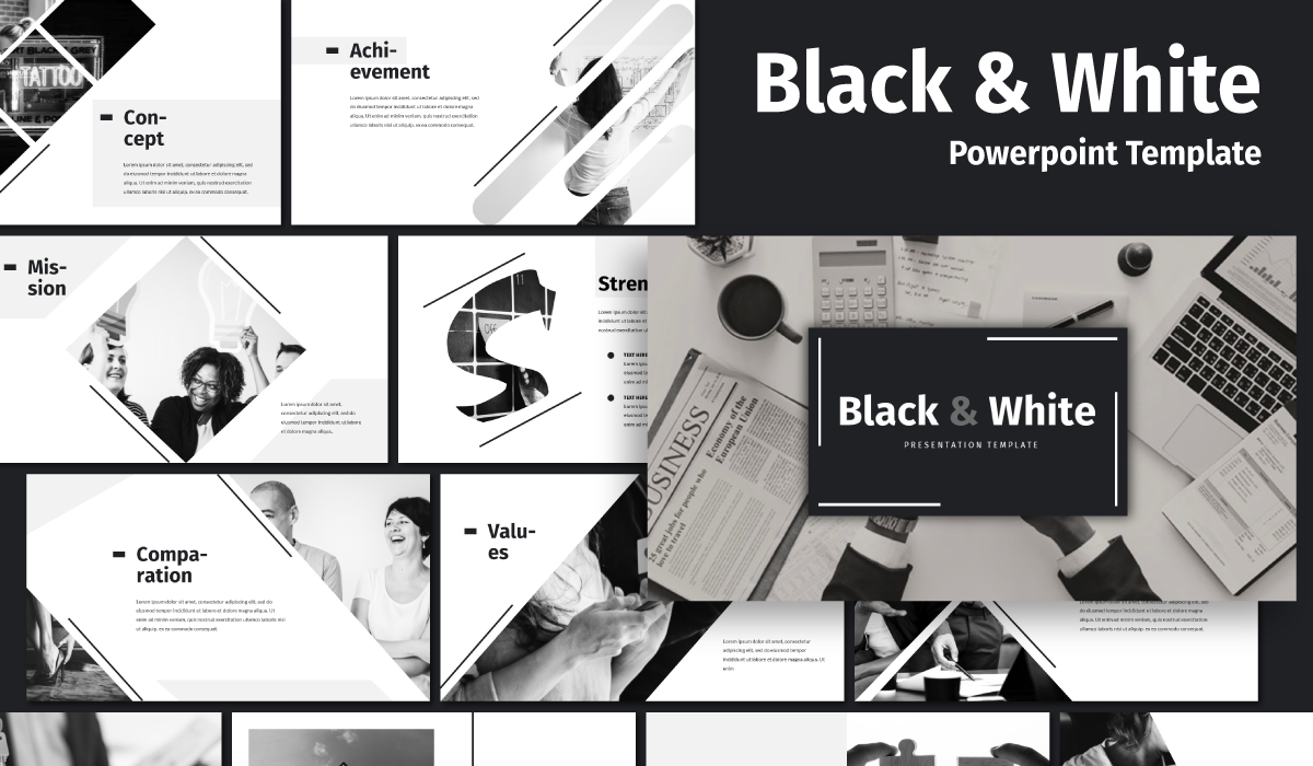 Black & White - Business PowerPoint Template