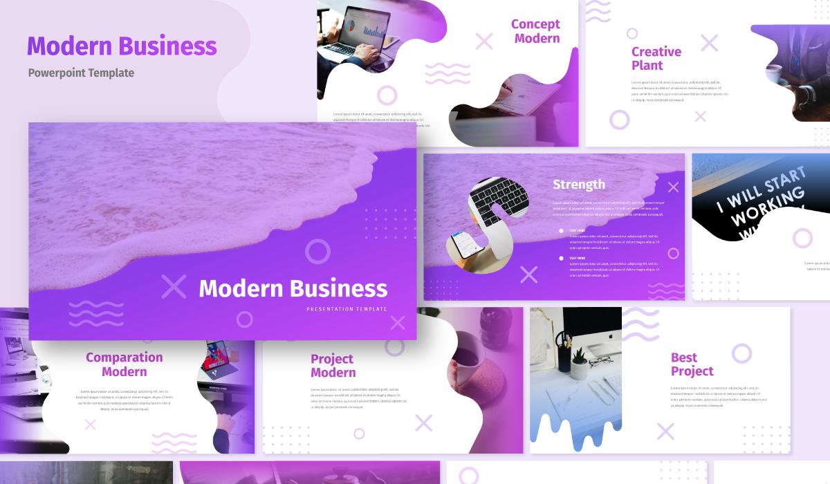 "Modello PowerPoint #105464 ""Modern - Business"""