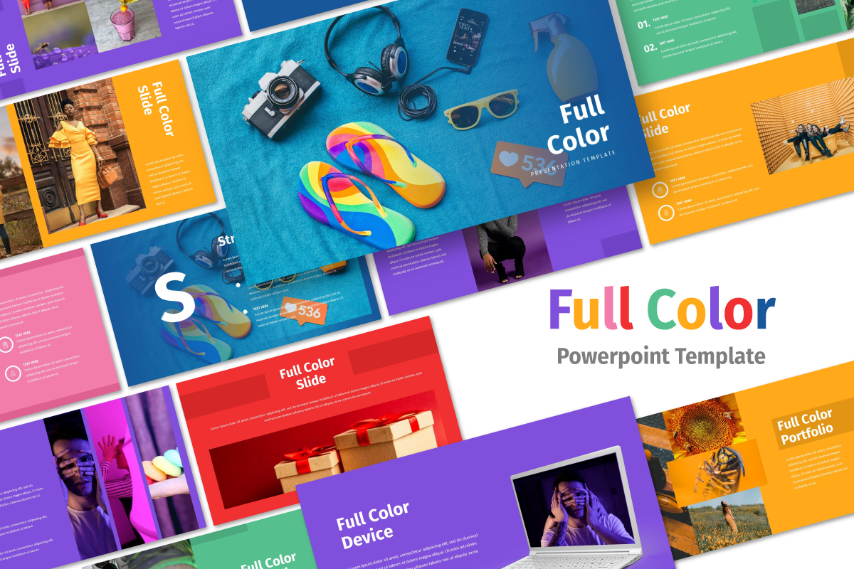 "PowerPoint Vorlage namens ""Full Color - Multipurpose"" #105458"