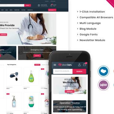 Купить  пофессиональные WooCommerce шаблоны. Купить шаблон #105503 и создать сайт.