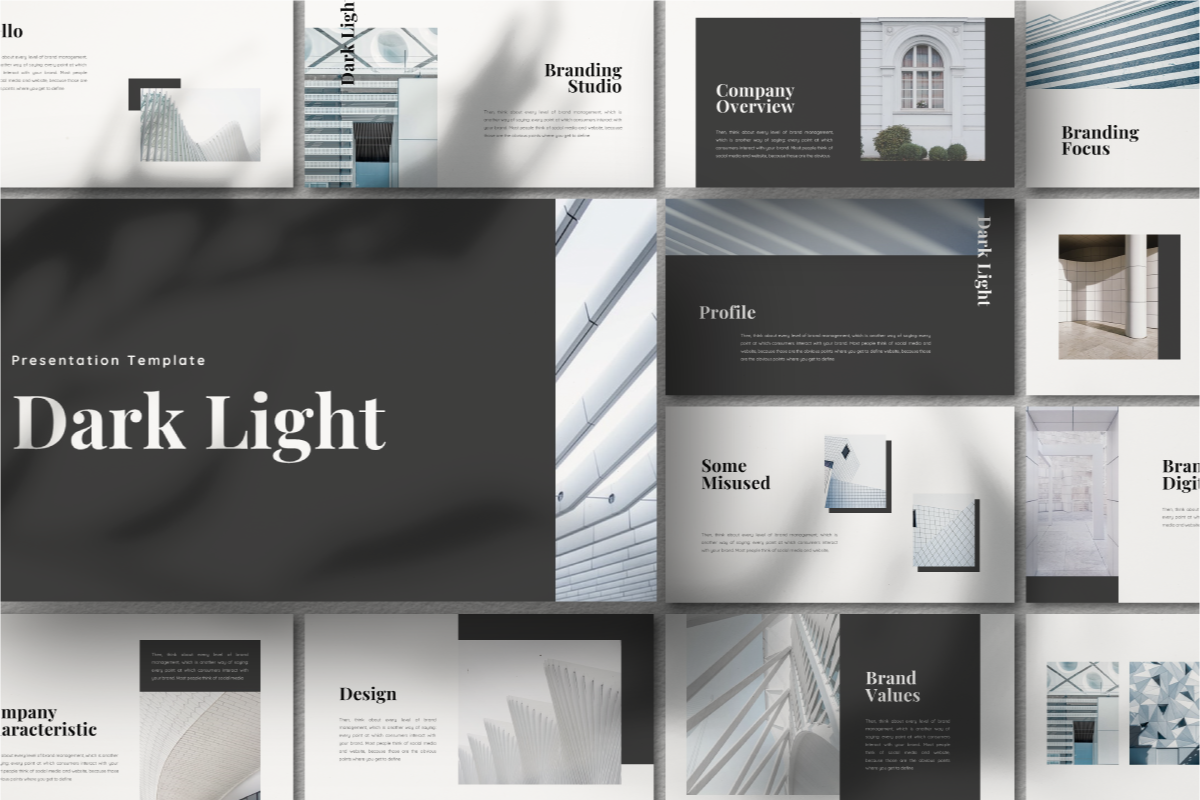 Dark Light PowerPoint Template