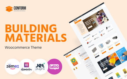 Conform - Building Materials Website Templates WooCommerce Theme