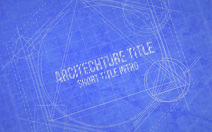 Blueprint Logo Reveal Final Cut Pro Template