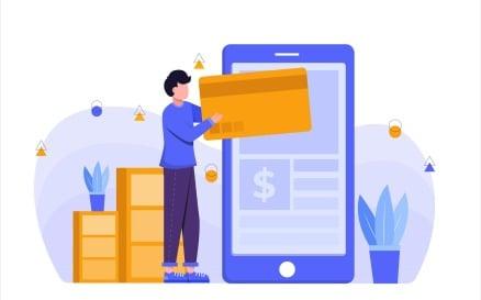 E-commerce App Flat Illustration Vector Graphic