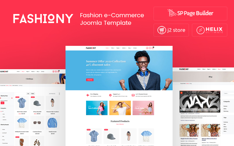 """Fashiony - Fashion J2Store eCommerce"" thème Joomla adaptatif #105662"