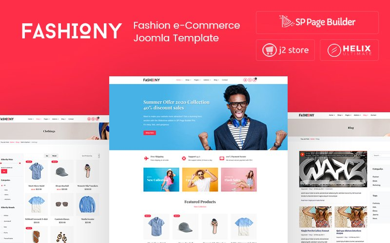 """Fashiony - Fashion J2Store eCommerce"" 响应式Joomla模板 #105662"