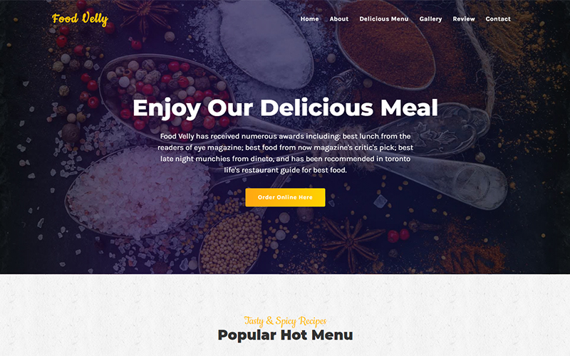 Food Velly - Food & Resturant HTML №105671