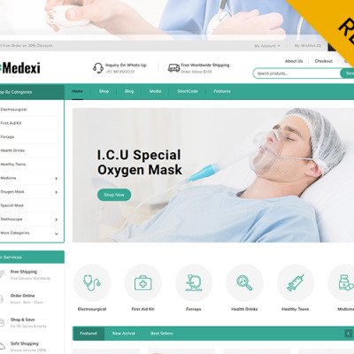 Medexi - Medical Drug Store WooCommerce Theme WooCommerce Theme #105674