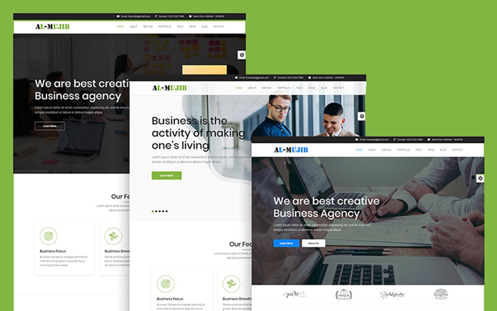 Mujib - Multipurpose HTML Landing Page Template