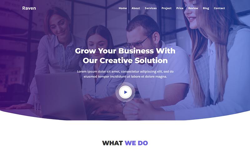 """Raven - IT Solutions & Agency HTML"" 响应式着陆页模板 #105675"