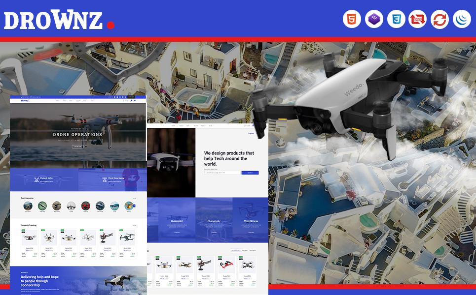"Website Vorlage namens ""Drownz | Drone Shop and Ariel Photography HTML5"" #105676"