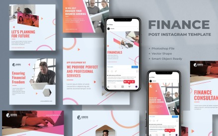 Finance Instagram Post Template Social Media