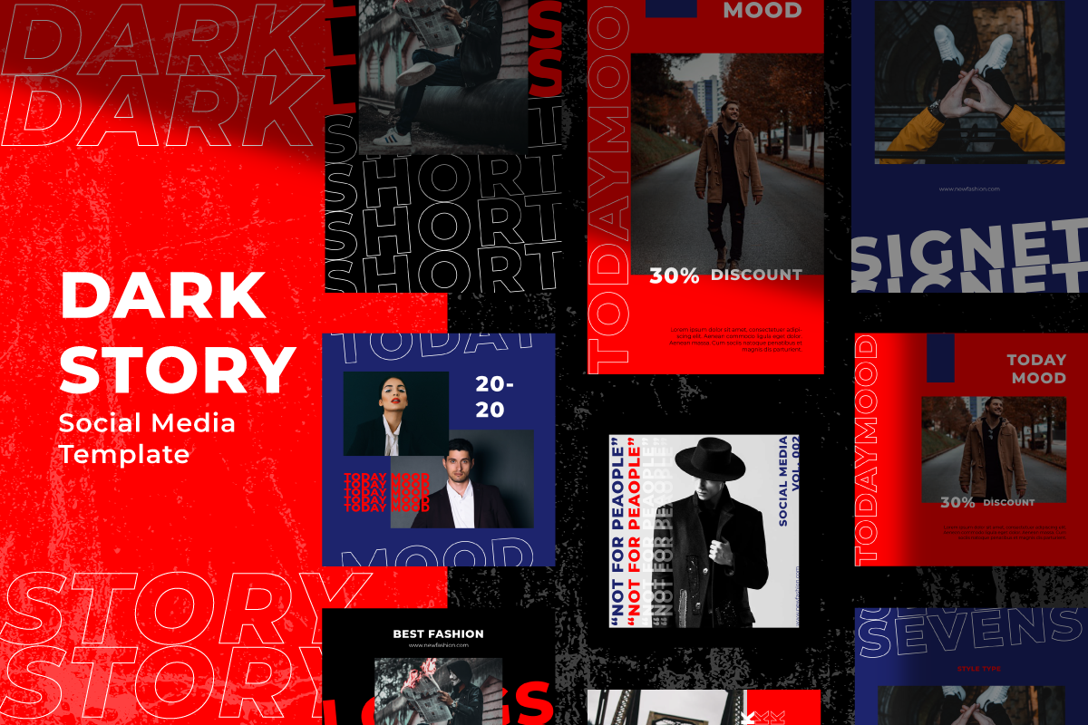 Dark Story Instagram Template Social Media