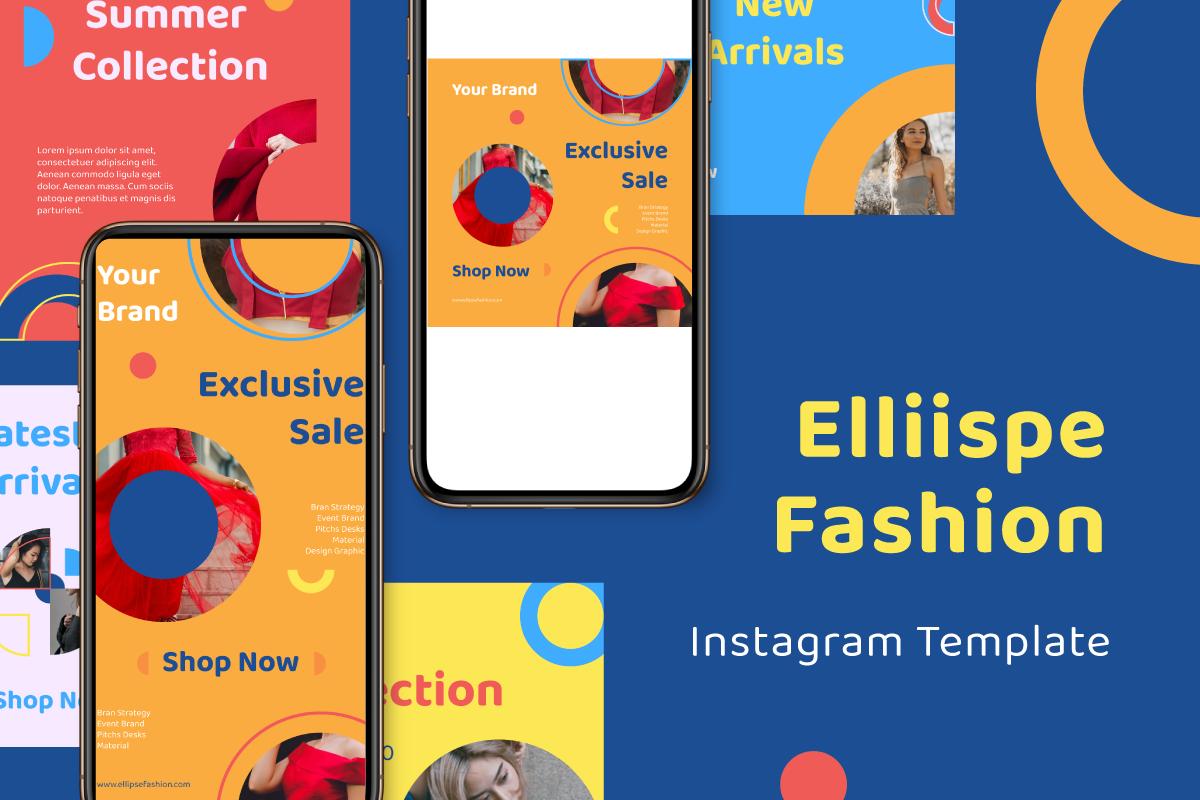 """Ellipse Fashion Instagram Template"" média social  #105868"