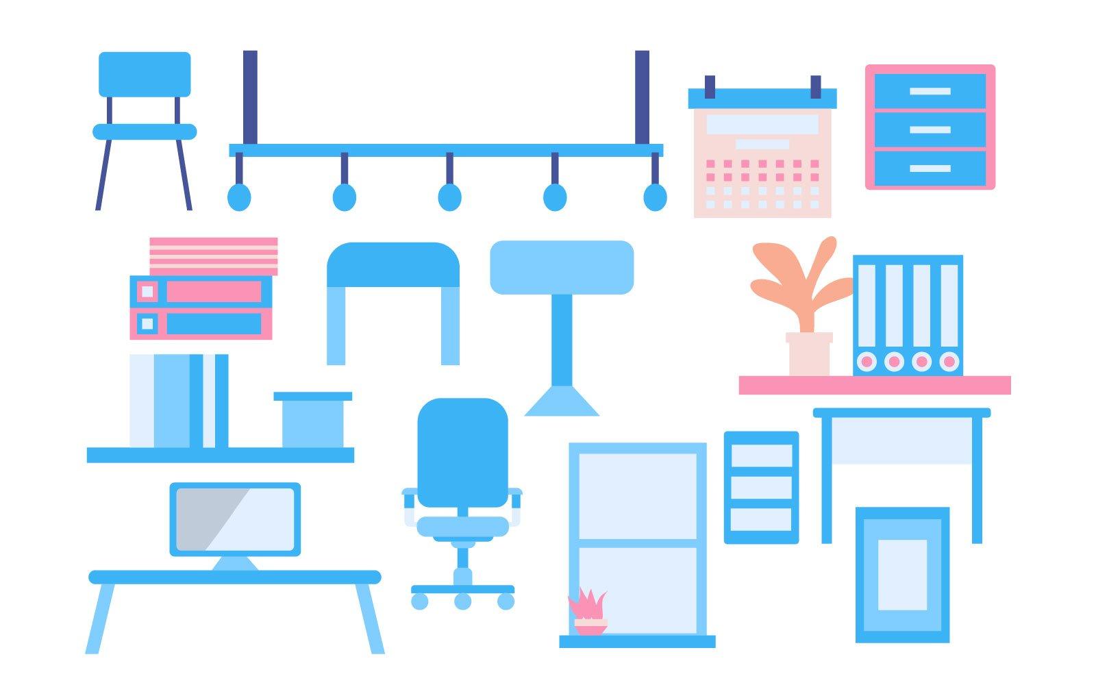 Furniture template Illustration