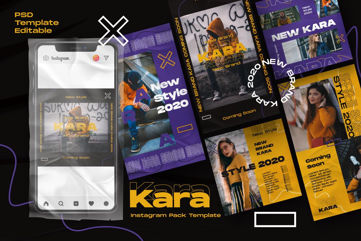 """""""Kara Story & Feed Instagram Template"""" média social  #105870"""