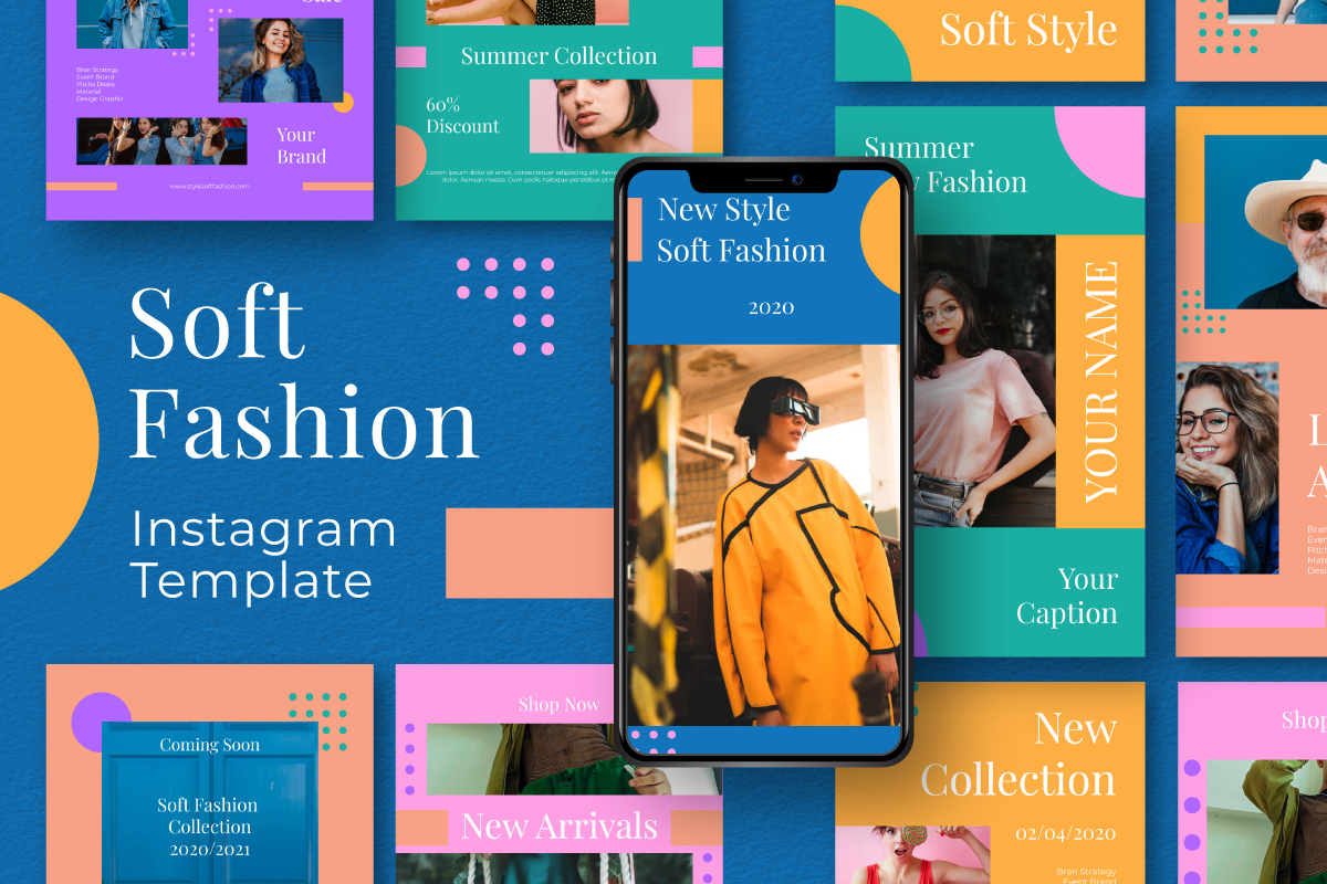 """Soft Fashion Instagram Template"" 社交媒体 #105872"