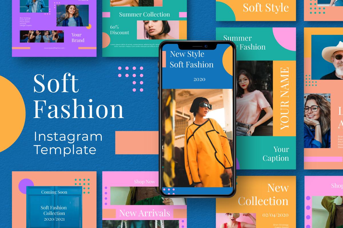 "Soziale Medien namens ""Soft Fashion Instagram Template"" #105872"
