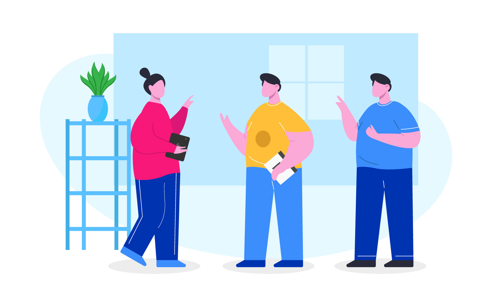 Teamwork template Illustration