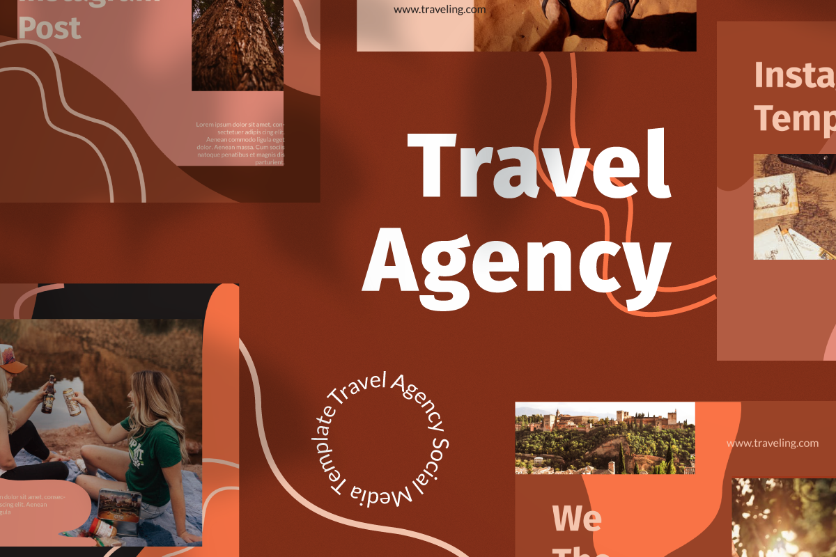 """Travel Agency Instagram Template"" 社交媒体 #105861"