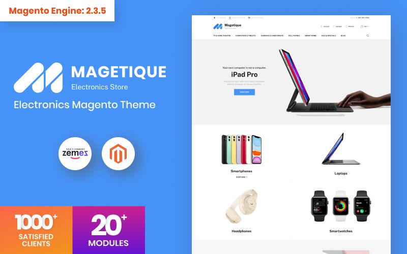 Reszponzív Magetique - Electronics Store Magento sablon 106061