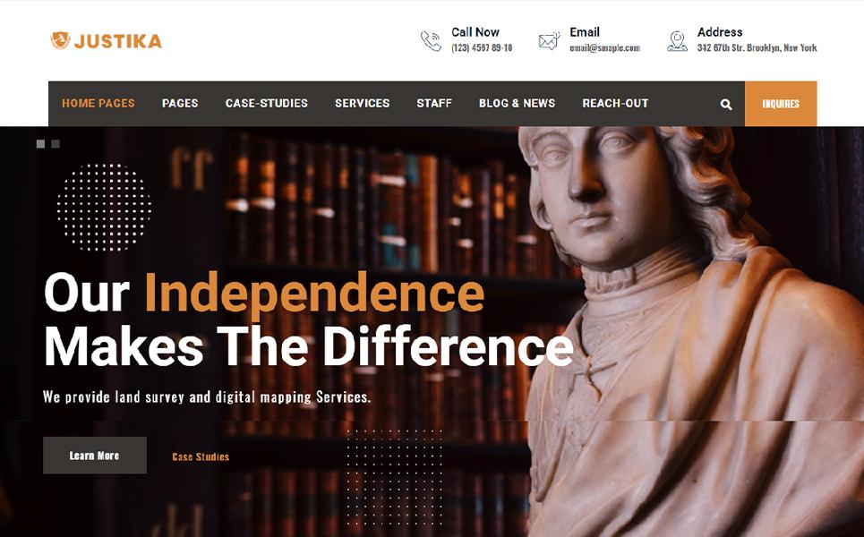 "WordPress Theme namens ""Juystika | Lawyer & Legal Firm Services"" #106058"
