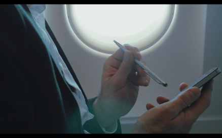 Businessman Using Smart Phone During the Flight - Stock Video