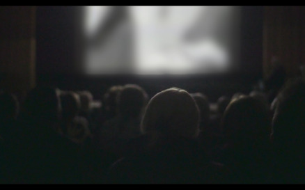 People Watching Film in the Cinema - Stock Video