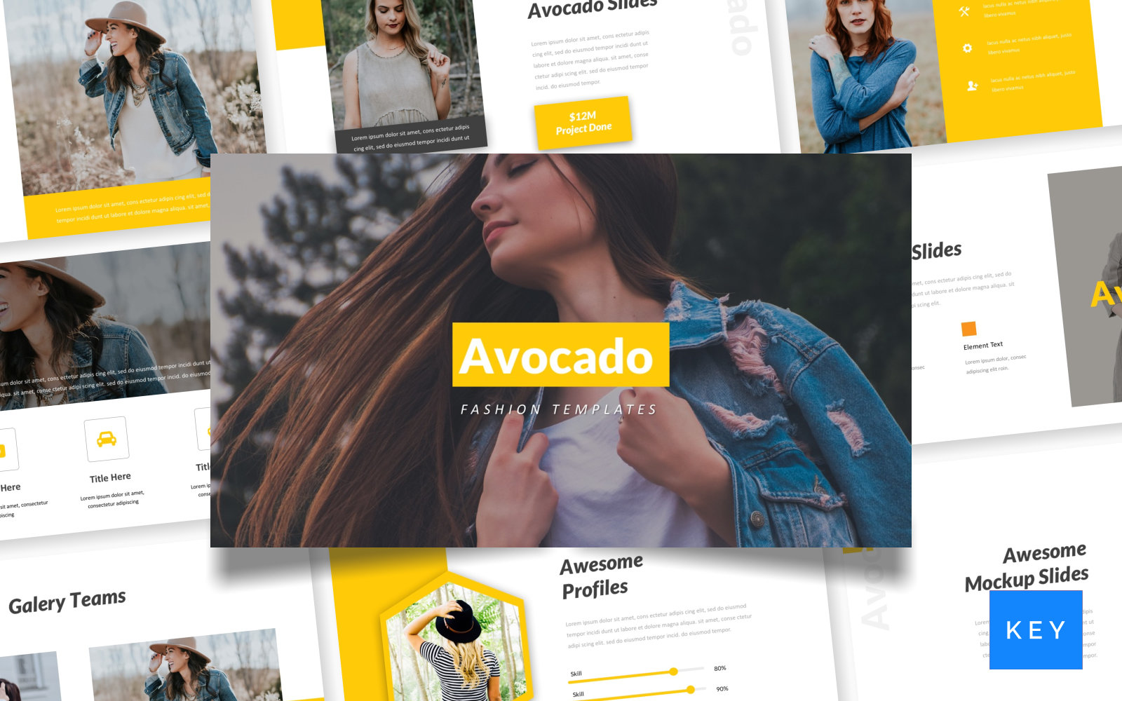 Avocado - Fashion Keynote Template