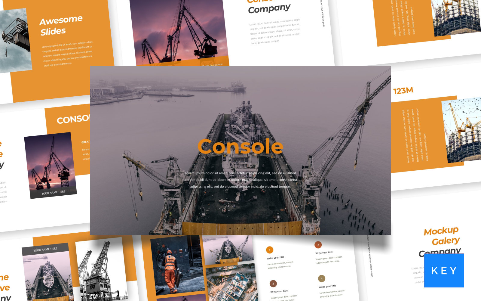 Console - Pitch Deck Keynote Template