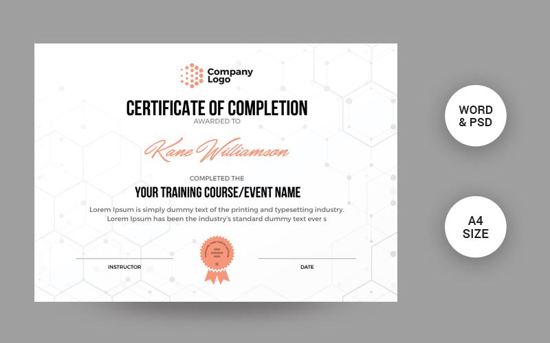Modern Creative Design Certificate Template 106228