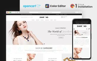 Diamond Jewellery Store OpenCart Template
