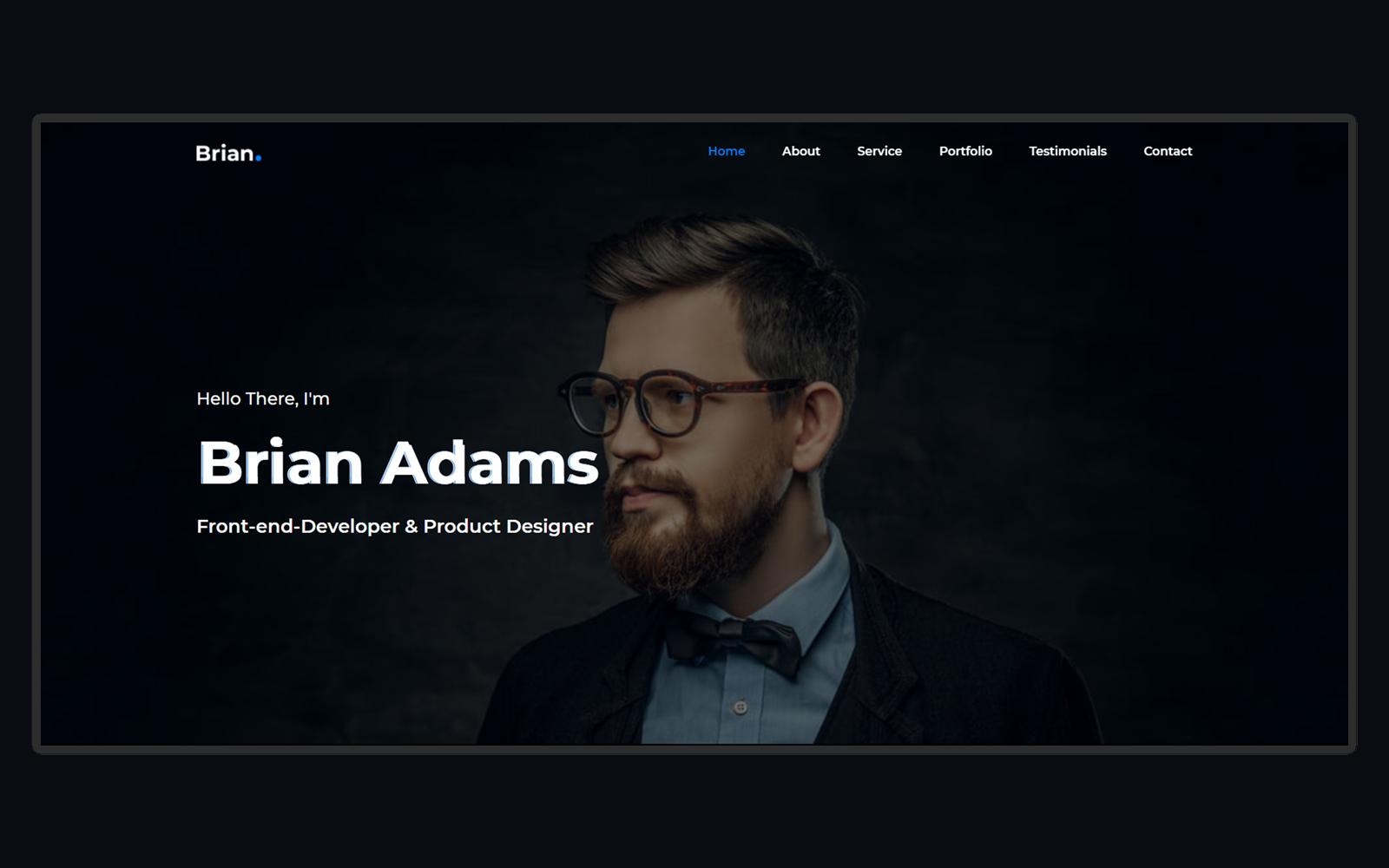 Brian - Creative Personal Portfolio Landing Page Template