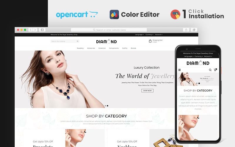 "Responzivní OpenCart šablona ""Diamond Jewellery Store"" #106458"