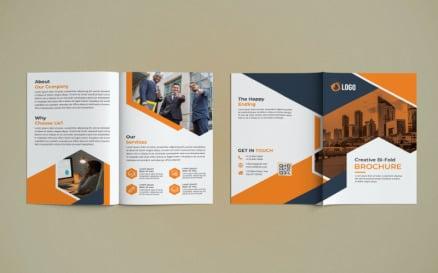 Business Bi Fold Brochure Design - Corporate Identity Template