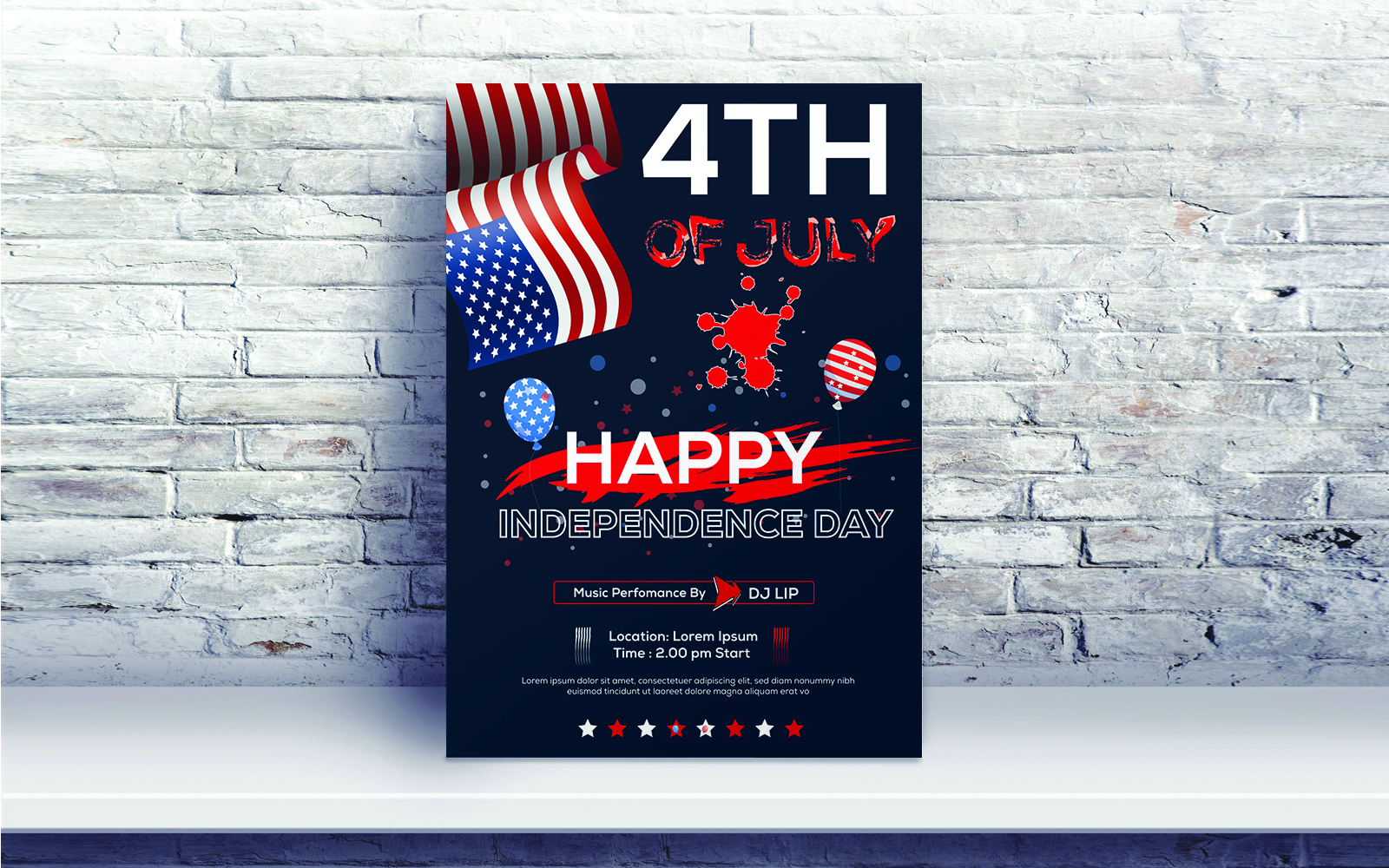 4th of July independence day Celebration Corporate Identity Template