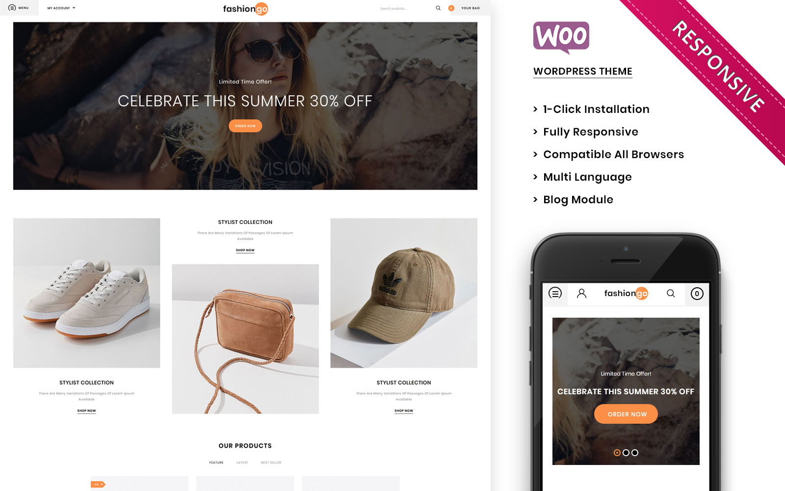 Fashiongo - The Fashion Store Responsive WooCommerce Theme