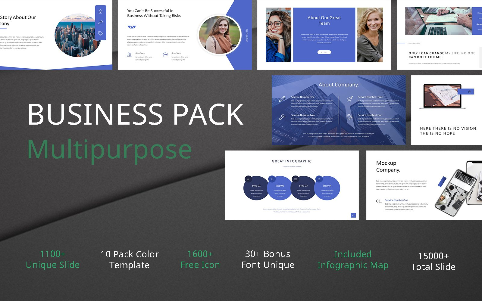 Business Pack Multipurpose PowerPoint Template