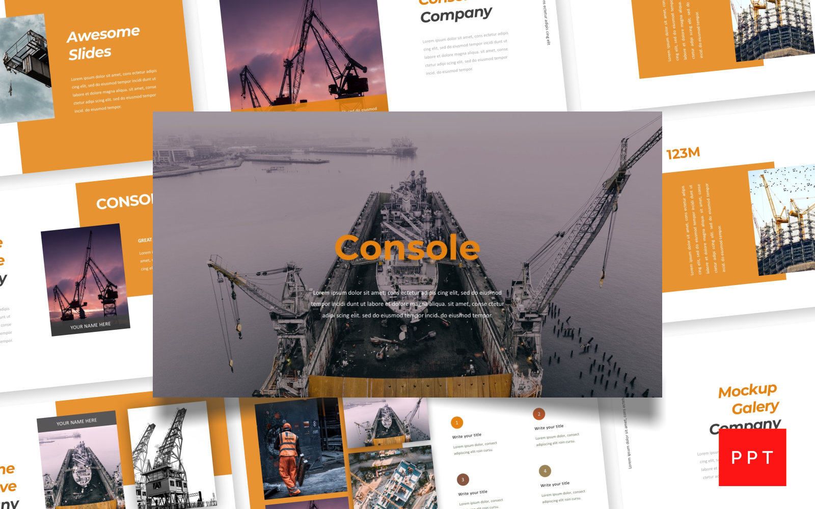 Console - Pitch Deck PowerPoint Template