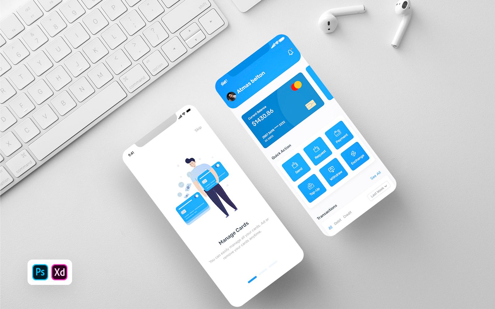 Financen - Mobile Banking App UI Elements