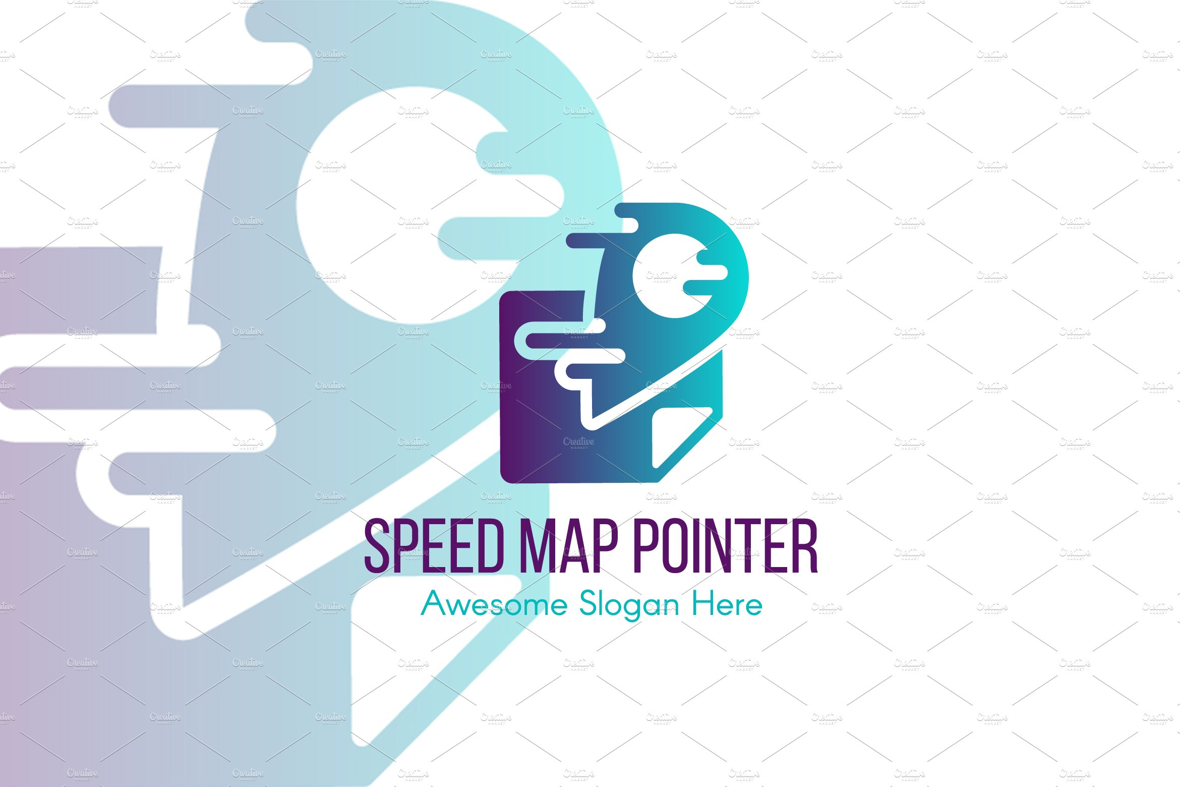 Speed Map Pointer Logo Template