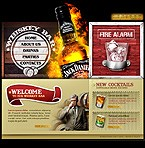 Flash: Food & Drink Online Store/Shop Flash Site Cafe and Restaurant Most Popular St. Patrick Green Templates