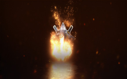 Gaming Fire Logo Reveal After Effects Template