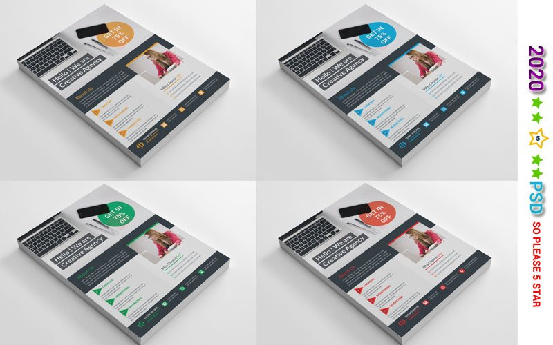 Blue Color Flyer Corporate Identity Template