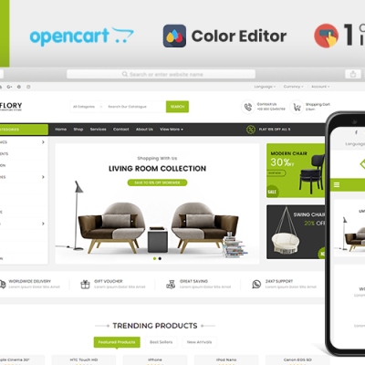Flory Furniture Store OpenCart Template #107016