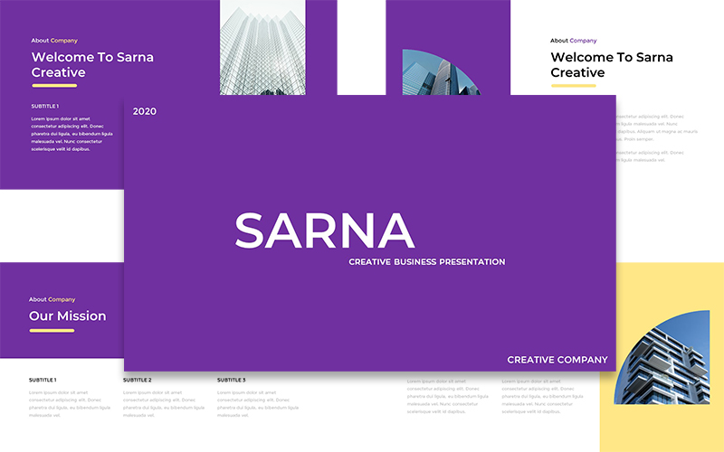 Sarna - Creative Business PowerPoint Template